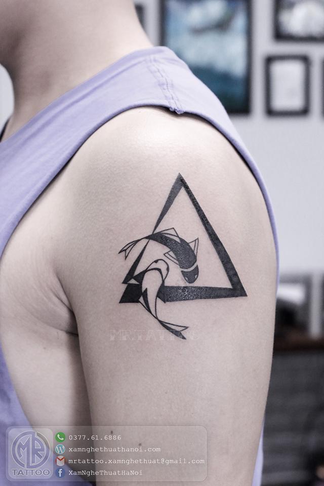 Hình xăm song ngư - Hình Xăm Nhỏ tại Mr.Tattoo - Những mẫu xăm nhỏ đẹp nhất 1.