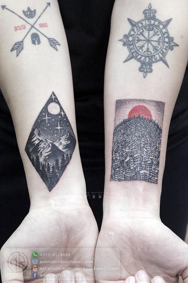 Hình xăm thành phố - Hình Xăm Đẹp tại Mr.Tattoo - Những mẫu xăm đẹp nhất 1.