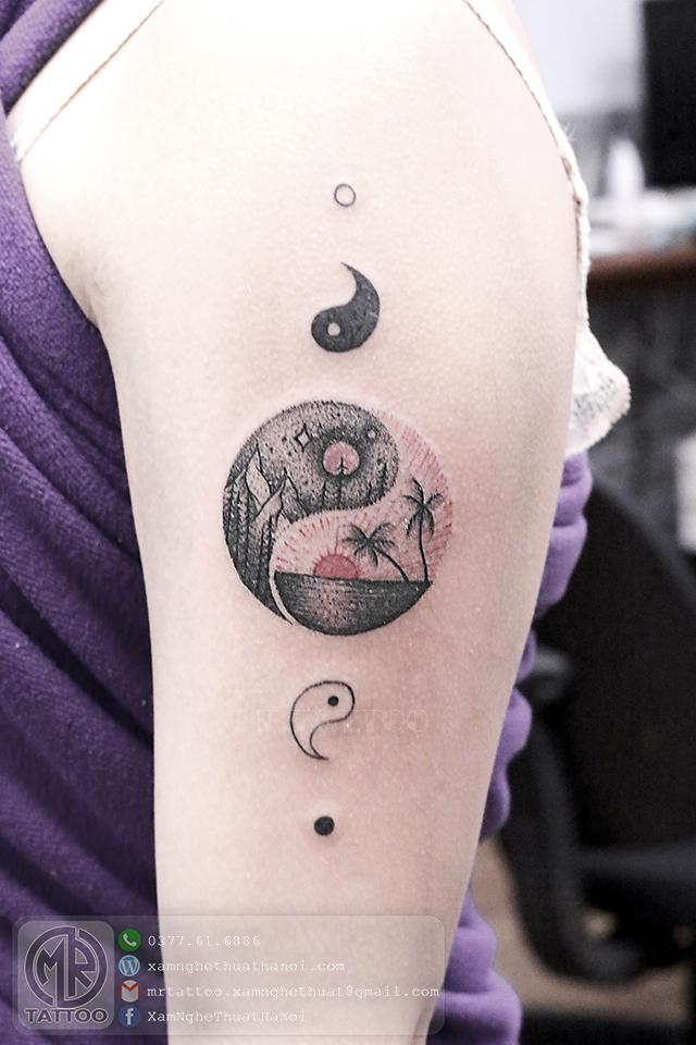 Hình xăm thái cực - Hình Xăm Đẹp tại Mr.Tattoo - Những mẫu xăm đẹp nhất 2.