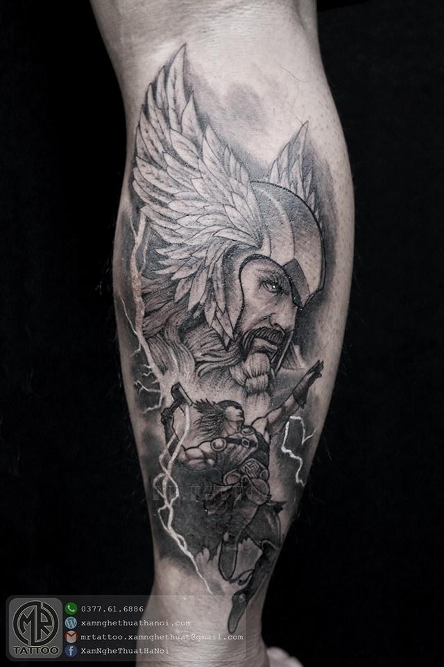Hình xăm thần Thor - Hình Xăm Đẹp tại Mr.Tattoo - Những mẫu xăm đẹp nhất 2.