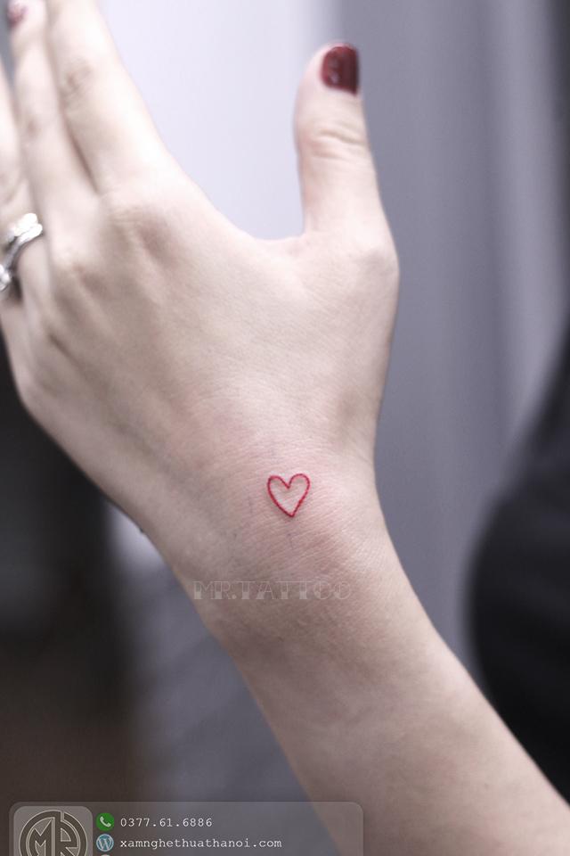 Hình xăm trái tim 2 - Hình Xăm Nhỏ tại Mr.Tattoo - Những mẫu xăm nhỏ đẹp nhất 1.