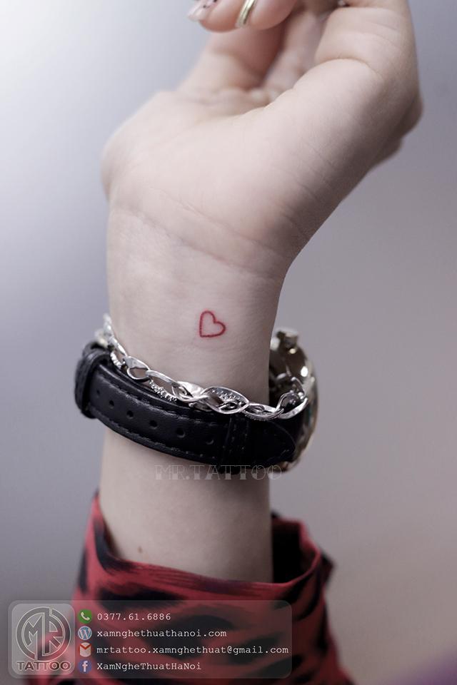 Hình xăm trái tim - Hình Xăm Nhỏ tại Mr.Tattoo - Những mẫu xăm nhỏ đẹp nhất 1.