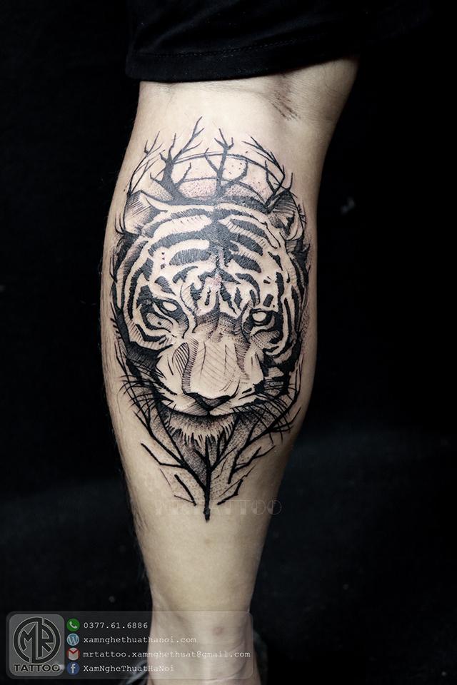hình xăm hổ - Hình Xăm Đẹp tại Mr.Tattoo - Những mẫu xăm đẹp nhất 2.