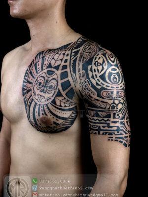 Hình Xăm Maori The Rock - Hxd